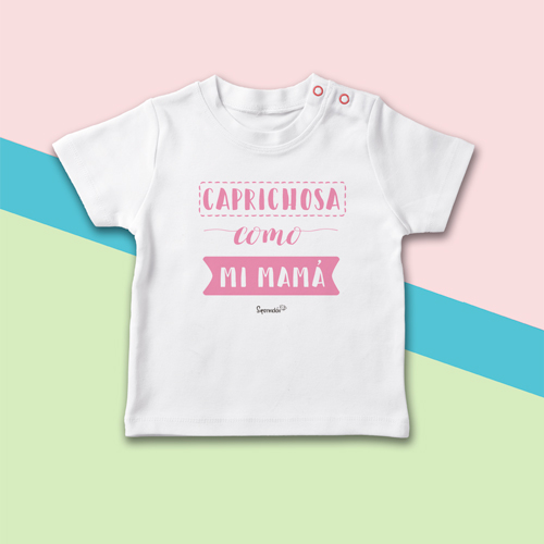 camiseta bebé caprichosa como mi mamá