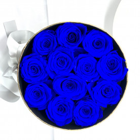 Rosa eterna azul en caja de regalo original