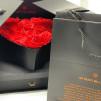 Rosas preservadas rojas en joyero apertura lateral, sorpresa!