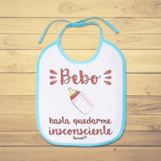 Divertido babero personalizado de bebe con frase original y graciosa