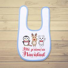 Babero de bebé perfecto para regalar estas Navidades. Al más peque de casa, disfrutará de sus primeras Navidades.
