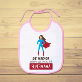 Babero de bebé personalizado para alegrarle el día a tu súper mamá
