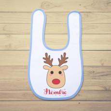 Babero de bebé perfecto para regalar estas Navidades. Añadir nombre en observaciones, al final de la compra.