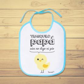 Babero de bebé divertido y original, para los papas primerizos.