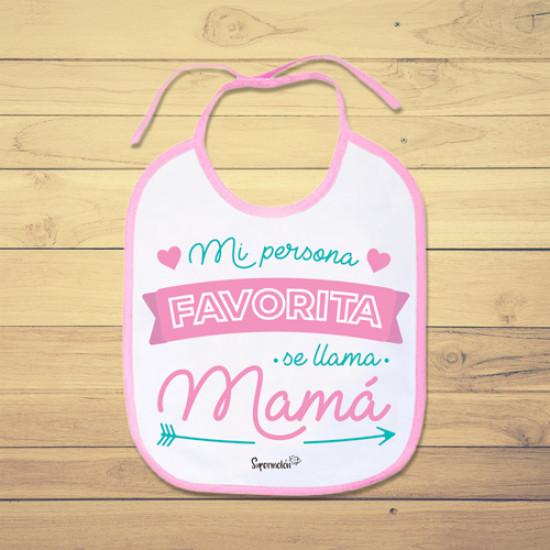 Babero de bebé personalizado para alegrarle el día a mamá