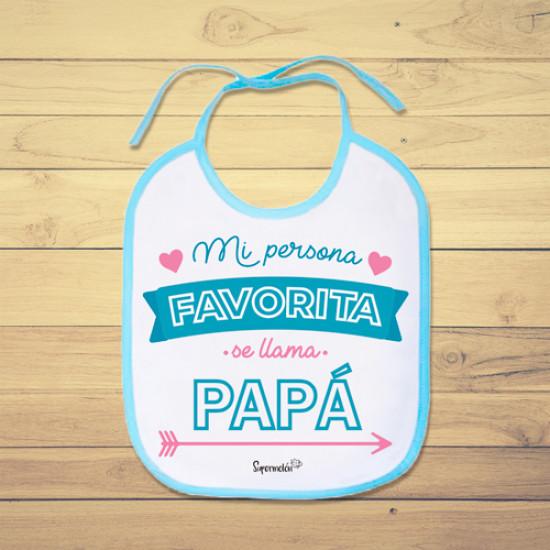 Babero de bebé personalizado para alegrarle el día a papá