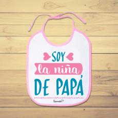 Babero personalizado de bebé para decirle a papá cuánto lo quieres