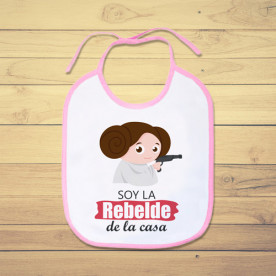 Babero personalizado para la bebé rebelde de la casa, de Star Wars