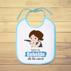 Babero personalizado para el bebé rebelde de la casa, de Star Wars