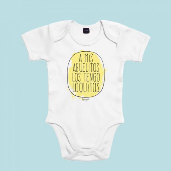 Body divertido de bebé de manga corta/larga 100% algodón.