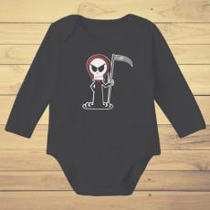 Divertido body de bebé de manga corta/larga 100% algodón, ideal para Halloween.