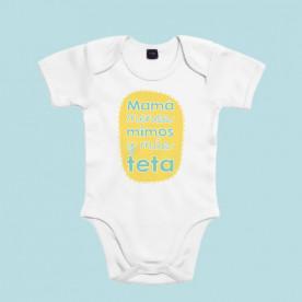 Divertido body de bebé de manga corta/larga 100% algodón. Ideal para hacerle un regalo a un bebé.