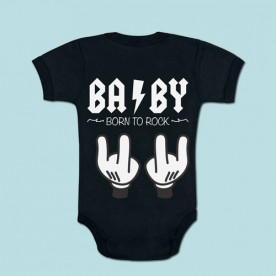 Body de algodón de manga corta/larga para bebé. Elige tu color, blanco, rosa, azul o negro