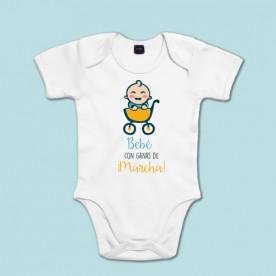 Body de manga corta/larga para el bebé más marchoso. Regalo original para bebés