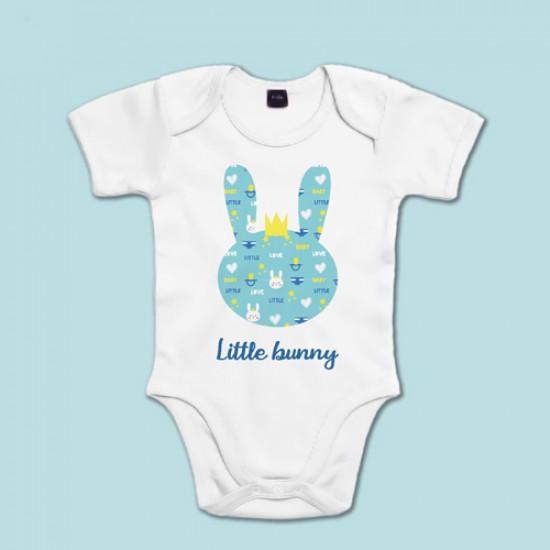 Body de manga corta/larga de bebé con silueta de conejito