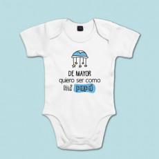 Body manga corta/larga 100% algodón de bebé para alegrar el día a papá