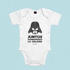 Divertido body de bebé de manga corta/larga 100% algodón, ideal para padres frikis