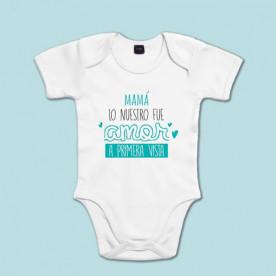 Body de algodón de manga corta/larga para bebé. Dile a mamá cuánto la quieres!
