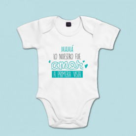 Body de algodón de manga corta para bebé. Dile a mamá cuánto la quieres!