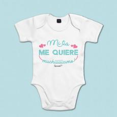 Body de algodón de manga corta/larga para bebé con frase dedicada a las tías
