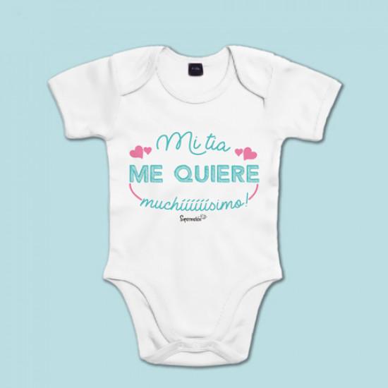 Regalos Originales Para Ninos Recien Nacidos.Body Bebe Personalizado Supermolon Mi Tia Me Quiere