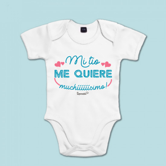 Body de algodón de manga corta/larga para bebé con frase dedicada a las tíos