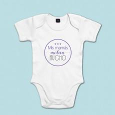 Body de algodón de manga corta/larga para bebé super molón