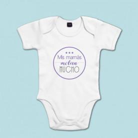 Body de algodón de manga corta para bebé super molón