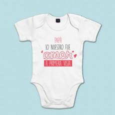 Body de algodón de manga corta/larga para bebé. Dile a papá cuánto lo quieres!