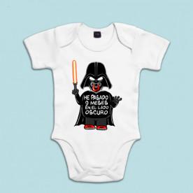 Body de algodón de manga corta/larga para bebé con divertido dibujo de Darth Vader de Star Wars