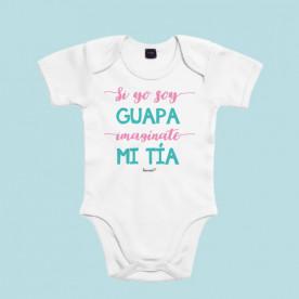 Body para bebé personalizado, ideal para regalar a tu sobrino. Por que las dos sois muy guapas, regálale este body de bebé original.