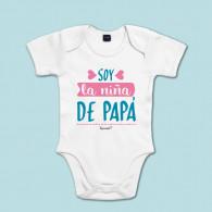 Body de algodón de manga corta/larga para bebé para decirle a papá cuánto lo quieres