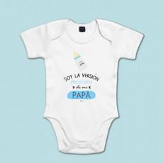 Body de algodón de manga corta/larga para bebé. Dile a papá quién es el guapo de la casa