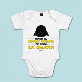 Body manga corta/larga 100% algodón de bebé para decirle a papá que es el mejor de todos