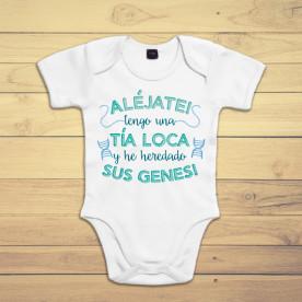 Body para bebé original, ideal para regalar a tu sobrino. Elige tu color, blanco, rosa, azul o negro. Sé la tía más guay!