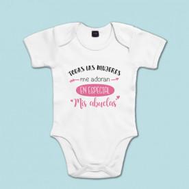 Body de algodón con frase original, ideal para regalar a tu nieto. Sé la abuela más especial!