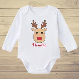 Divertido body de bebé de manga corta/larga 100% algodón, añadir el nombre en observaciones al final del pedido.