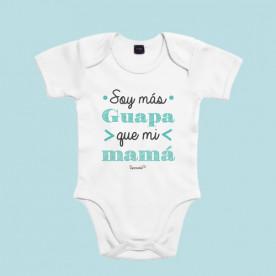 Body de manga corta/larga para bebé de algodón. Para las peques más presumidas.