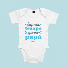 Body de algodón de manga corta/larga para bebé. Dile a papá quién es el guapo de la casa.