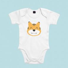 Divertido body de bebé de manga corta/larga 100% algodón, ideal para los amantes de los animales.