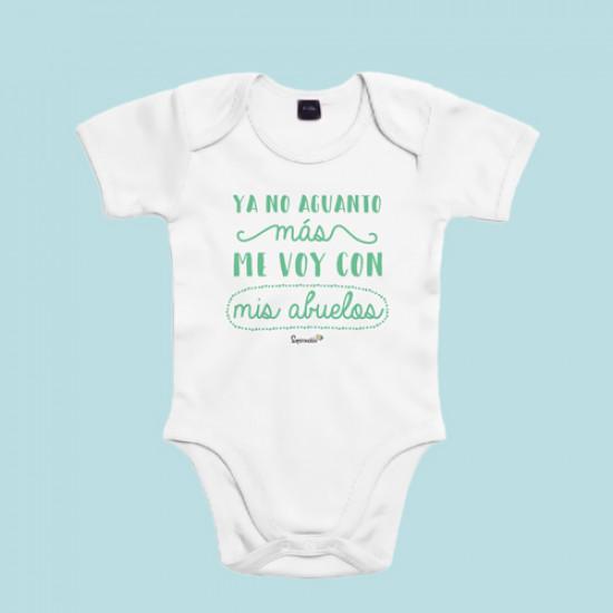 Body manga corta/larga 100% algodón de bebé especial para los abuelos