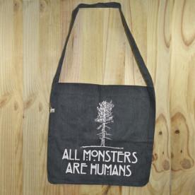 """Bolso de tela """"tote bag"""" de algodón orgánico reciclado con diseño de American Horror Story"""