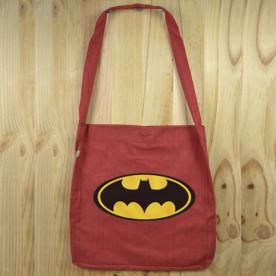 """Bolso de tela """"tote bag"""" de algodón orgánico reciclado con diseños de Súper héroes"""