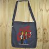 """Bolso de tela """"tote bag"""" de algodón orgánico reciclado con dibujo de El club de la lucha en versión los Simpsons"""