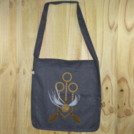 """Bolso de tela """"tote bag"""" de algodón orgánico reciclado con diseño Quidditch de Harry Potter"""