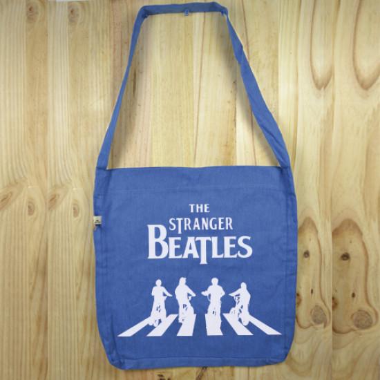 "Bolso de tela ""tote bag"" de algodón orgánico reciclado con diseño de Stranger things versión Beatles"