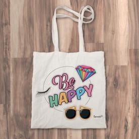 """Bolso de tela """"tote bag"""" muy colorido para llevar las cosas de tu día a día"""