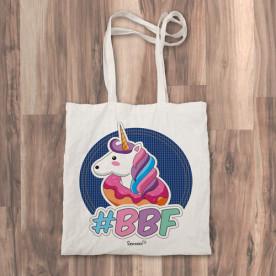 """Bolso de tela """"tote bag"""" con unicornio estilo pop"""