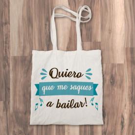 "Bolso de tela ""tote bag"" con mensaje positivo"