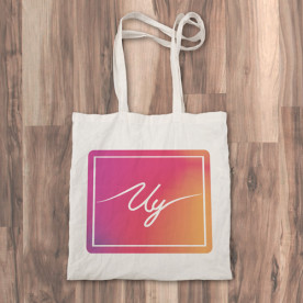 """Bolso de tela """"tote bag"""" 100% algodón con diseño del logo del youtuber Uy Albert!"""